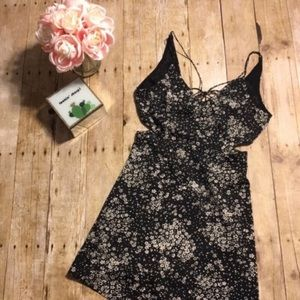 TopShop Floral Dress with Cutouts- Size 2